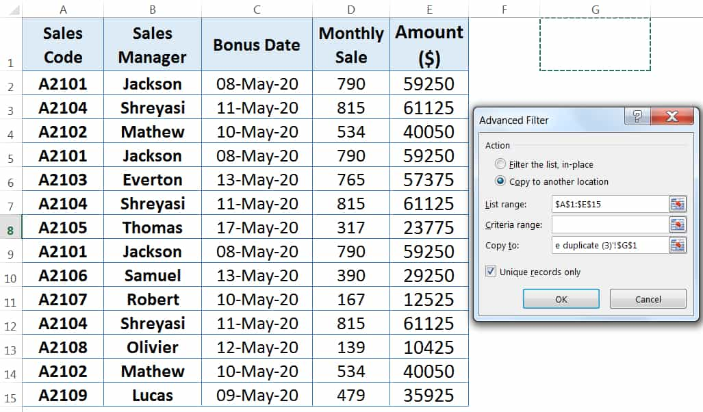 HOW TO FIND AND REMOVE DUPLICATES IN EXCEL ➢ USING CONDITIONAL FORMATTING_2