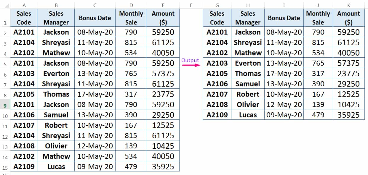 HOW TO FIND AND REMOVE DUPLICATES IN EXCEL ➢ USING CONDITIONAL FORMATTING_3