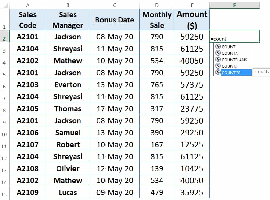 HOW TO FIND AND REMOVE DUPLICATES IN EXCEL ➢ USING COUNTIFS FUNCTION_1
