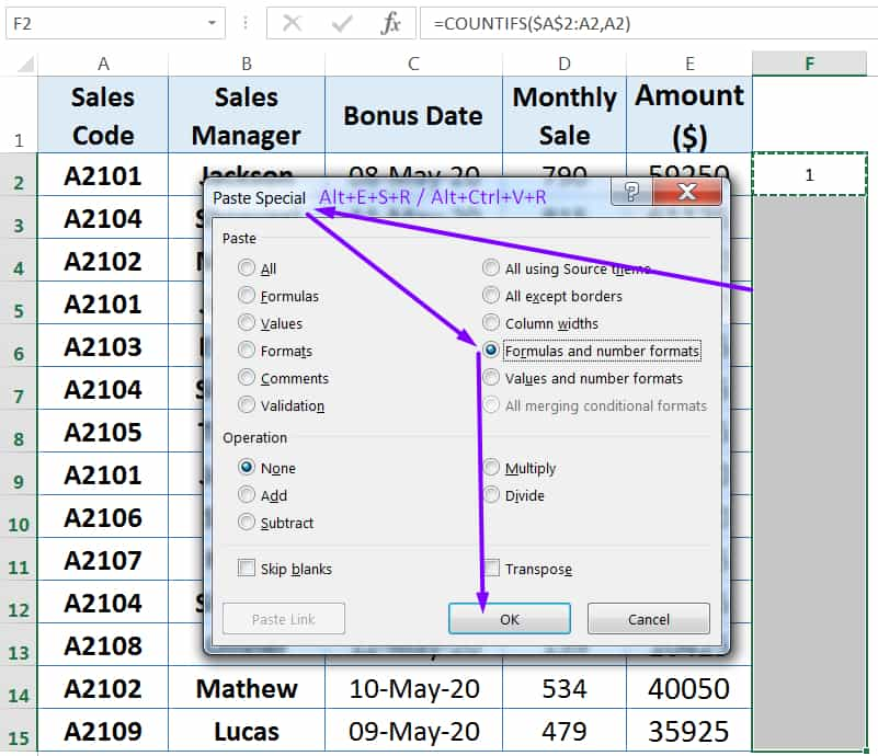 HOW TO FIND AND REMOVE DUPLICATES IN EXCEL ➢ USING COUNTIFS FUNCTION_6