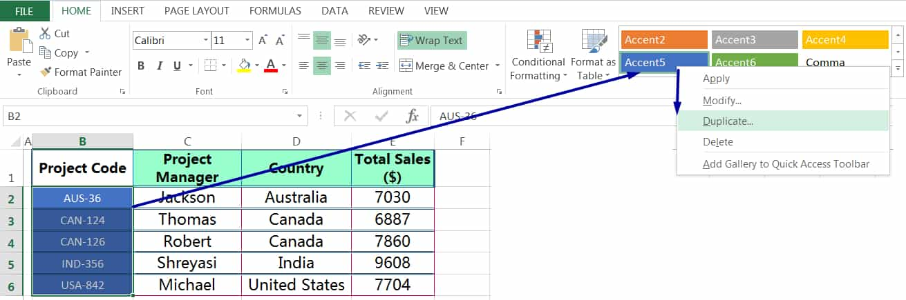 HOW TO MODIFY EXISTING CELL STYLES IN EXCEL_1