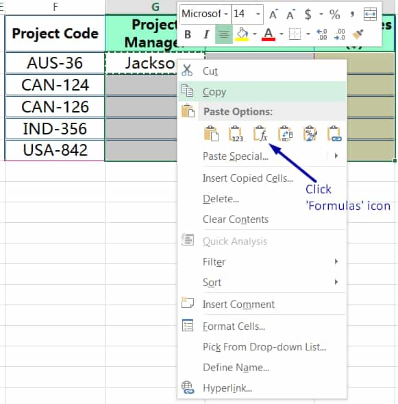 METHOD 2 HOW TO COPY FORMULA IN EXCEL ➢ USING 'FORMULAS' IN PASTE SPECIAL_2