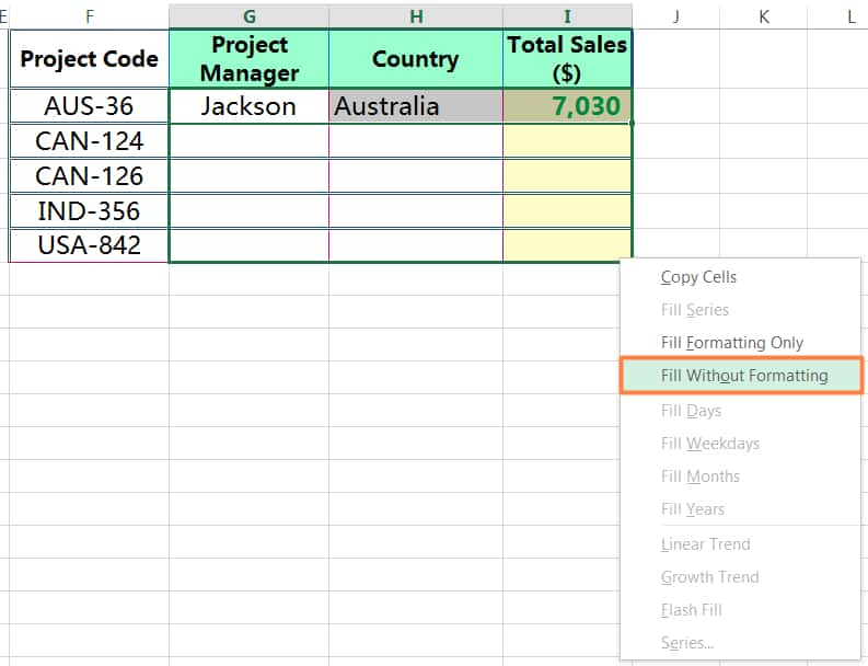METHOD 3 HOW TO COPY FORMULA IN EXCEL ➢ USING AUTOFILL IN EXCEL_2