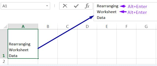 WRAP TEXT IN EXCEL MANUALLY_1