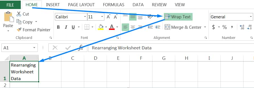 WRAP TEXT IN EXCEL USING RIBBON_1